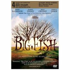New Big Fish Dvd 2003 the bogfish Movie Jessica Lange Tim Burton Ewan McGregor