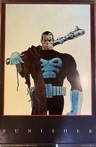 "1991 Punisher Vintage Poster 22"" x 34"" Marvel Comics - Excellent Condition!"