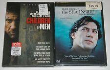DVD Lot - Children of Men (New) The Sea Inside (New)