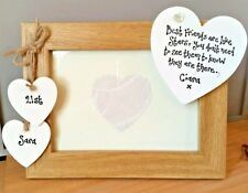 Shabby personalised Chic photo frame FRIEND gift 18 21st 30 40th birthday