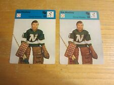 Gump Worsley Lot of 2 1977-79 Sportscaster Series 6 #607 Card NHL North Stars