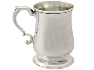 Antique Georgian Newcastle Sterling Silver Half Pint Christening Mug 1774