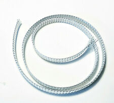 Expandable Braided Mylar Tubing 3Ft Long Silver or Pearl $6.00
