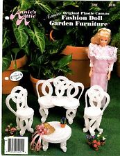 Annie's Attic Plastic Canvas Pattern Leaflet FASHION DOLL GARDEN FURNITURE 245K