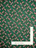 Christmas Candy Cane Holiday Toss Green Cotton Fabric Springs CP28181 - Yard