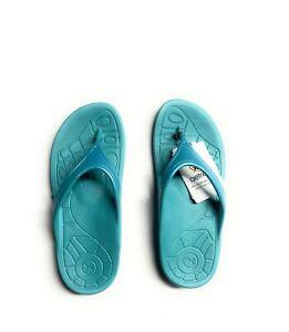 Aetrex Women Fiji Lynco Orthotic Flips ( Aqua)