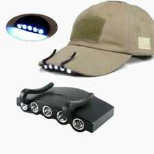 Clip-On 5 LED Head Cap Hat Light Head Lamp Torch Outdoor Fishing Camping Hunting
