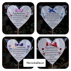 Mothers day memorial grave ornament, father wife husband personalised,waterproof
