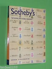 Sotheby's  Of Royal and Noble Descent 2003 Amsterdam Auktionskatalog