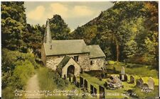SUPERB OLD POSTCARD - CULBONE CHURCH near PORLOCK - SOMERSET C.1966