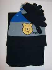 Childs WINNIE THE POOH Soft Knit HAT Cap BEANIE SCARF & GLOVES Glove SET NEW!!