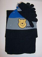 Childs WINNIE THE POOH Soft Knit HAT BEANIE SCARF & GLOVES Glove SET NEW!!