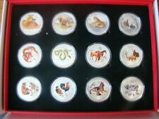 2008-2019 Australia Lunar Series II 1 Oz Colorized (12 coin Set in display box)