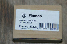 "FLAMCO 27205 MANOMETER 1/4"" RAD 63MM 3 BAR NEU"
