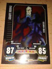 Force Attax Star Wars Serie 3 Star-Karte 205 Count Dooku Sammelkarte