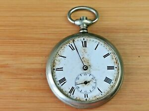 Vintage Sub-Dial Pocket Watch for repair / Parts, Good Dial