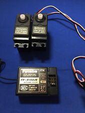 Futaba Vintage Fp-r102je Receiver Fp-s148 Servos Rc Car Radio Gear Vgc Working