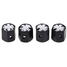 4x Stainless steel British Flag Anti Theft Car Wheel Tire Valve Stem Air Caps