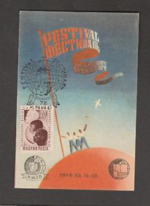 HUNGARY 1949 YOUTH FESTIVAL MAXIMUMCARD