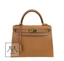 Hermes Kelly Sellier Bag 28cm Gold GHW Chamonix Leather - 100% Authentic
