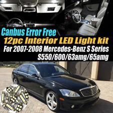 12Pc Error Free White Interior LED Light Kit for 2007-08 Mercedes-Benz S Series