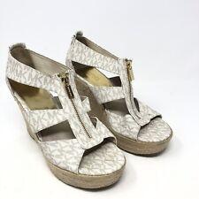 Women's Michael Kors Vanilla Wedge Sandals Size 8