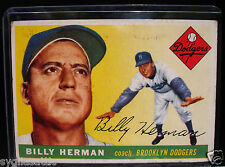 1955 Topps BILLY HERMAN #19 Baseball Card-VG/EX Condition-BROOKLYN DODGERS
