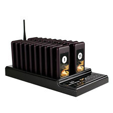 Restaurant Wireless Guest Paging Queuing System 1 Transmitter+20Chargeable Pager
