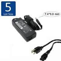 Lot of 5 Genuine HP 90W Laptop Charger AC Power Adapter 677777-003 19V 4.74A