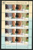 1999 Australia - International Year of Older Persons Sheet MUH