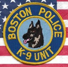 K-9  DHF BOSTON  Massachusetts Police Patch Polizei Abzeichen Hundeführer USA
