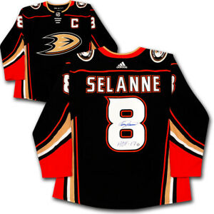 Teemu Selanne Autographed Anaheim Ducks Pro Jersey