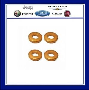FORD injector Copper Washer Seals x 4 1.6 TDCI  Fiesta / Focus / Fusion / C-MAX