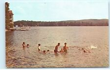 *Camp Notre Dame Lake Spofford New Hampshire NH Swimming Boating Postcard B55