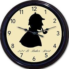 Sherlock Holmes 221 B Baker Street Wall Clock London UK Conan Doyle Watson New