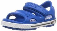 Crocs Kids' Crocband II Sandal | Water Slip on, Bright Cobalt/Charcoal, Size 4.0