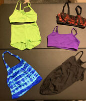 Pre Owned Lot of (5) Girls - Size MC - Dance Clothes - 1 Leotard, 3 Tops, 1 Set