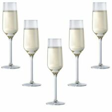 More details for set of 6 champagne flutes glasses cava prosecco glass 220ml 7.4 oz  22cl