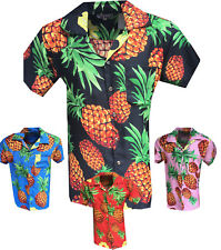 MENS HAWAIIAN SHIRT PINEAPPLE STAG BEACH HAWAII ALOHA PARTY SUMMER HOLIDAY FANCY