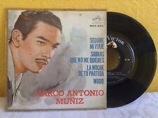 """MARCO ANTONIO MUÑIZ SEGUIRE MI VIAJE MEXICAN 7"""" SINGLE PS POP EN ESPAÑOL"""