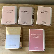 Lot Of 5 Ralph Lauren Women's Fragrance Sample Romance/Beyond Romance/Woman EDP