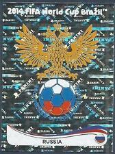 PANINI WORLD CUP 2014- #602-RUSSIA TEAM BADGE-SILVER FOIL
