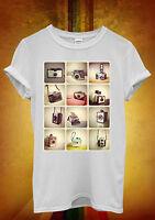 Retro Cameras Photography Hipster Men Women Unisex T Shirt Tank Top Vest 453