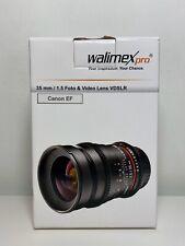 Walimex pro 35/1,5 Video DSLR Canon EF black