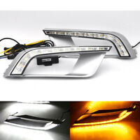 2x LED Daytime Running Lights DRL Turn Signal For Ford Ranger PX2 MK2 Wildtrak
