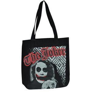 DC Comics Batman Dark Knight The Joker Junior Ladies Handbag Black Bag Purse
