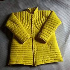 Thick Yellow Slim Gambeson Medieval Padded Collar Full Sleeves Beautiful
