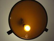 Eisenbahn Signalscheibe  J.C. Giessing Nürnberg 1961 Glas orange/gelb Ø 23,5 cm