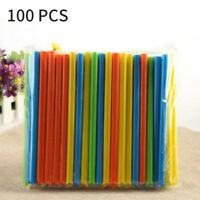 100/200PCS Plastic Thick rinking Straws Pearl Tea Milkshake Jumbo Straw NewY2Z