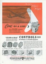 1951 Guardian Electric Ad with US Air Force B-50 Bomber Mid Century Design